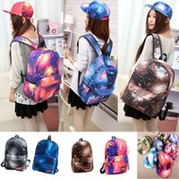 Wholesale New Fashion collocation Galaxy canvas backpack Baseball Cap for Women Space Pattern Print Snapback Unisex Hip Hop H3145 H11613