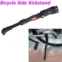 aluminum siding installation - Aluminum Adjustable Mountain Bike Bicycle Side Kickstand Kick Stand Kit Universal Black With Set of Installation Gadgets