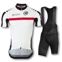 assos cycling shorts - Assos Team Cycling Jersey Set Invisible Zipper Cyclist Clothes Suit With Pants Pad Bib High Quality Clothing Lycra Polyester Bib Bike