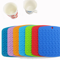 Wholesale Table Mats Non Slip Heat Resistant Mat Coaster Cushion Placemat Pot Holder Table Silicone Mat Kitchen Accessories CL00302