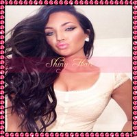 Wholesale Stock body wave virgin brazilian human hair full lace wigs glueless front lace wigs with baby hair bleached knots