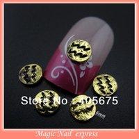 aquarius art - MNS141Y New arrives MM Roud gold nail studs Metal Nail art decorations aquarius d stickers