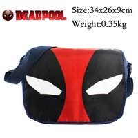 bicycle messenger bags - Deadpool satchel X Men shoulder bag Messenger Bag Black and red Deadpool Bicycle Running mountaineering outdoor sports Bags