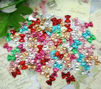craft embellishments - Mixed Resin Kawaii Dot Bows Flatback Cabochon Scrapbooking Crafts Fit Phone Embellishment x8mm