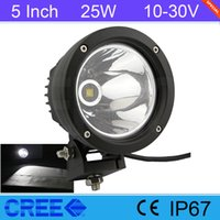 atv tuning - 5 Inch Cree Round W LED Headlight Tuning Light For Wrangler TJ CJ JK Defender Offroad SUV ATV