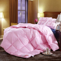 beige down comforter - White pink beige noble D duck down comforter twin queen king soft warm duvet FP luxury home textile quilts