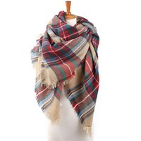 Wholesale 2015 women fashion Plaid Scarf Warm Soft Winter Blanket Scarf Oversized Tartan Scarf women Shawl Scarf