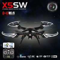 Wholesale Original Drones YMA X5SW FPV Helicopter Quadcopter with x5sw HD MP WIFI RC dron G Axis drones with battery