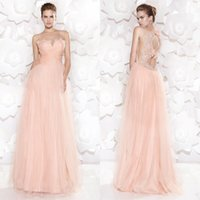 Cheap A Line Prom Dresses Best High Neck Sweep Train