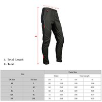Wholesale SANTIC Windproof Fall Winter Bike Riding Pants Tight Trousers Fleece Polyester Bicycle Long Pants Elastic Men Cycling Pants