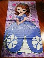 Wholesale Sofia The First Beach Cotton Towel for Girl Cartoon Children Bath Towel cm cm A3440