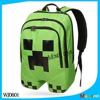 Wholesale 2015 New creative Minecraft backpacks Minecraft Bags Children School Bags MinecraftJJ backpacks schoolbags WJ0601