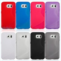 Wholesale For Samsung galaxy S6 G9200 TPU case ultra thin soft clear wave case s line cell phone cases