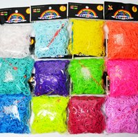 Cheap Better Quality 23 Colors Loom Bands Looms Colar Rubber Bands Loom Bracelets (600 bands + 24 clips) On Stock 4 Days Delivery Time FAST!