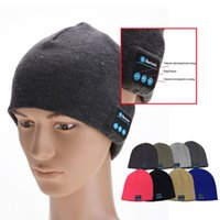 Wholesale Bluetooth Music Hat Soft Warm Beanie Cap with Stereo Headphone Headset Speaker Wireless Microphone