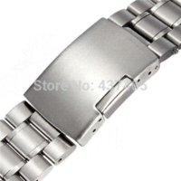 Wholesale Silver Stainless Steel Solid Links Watch Band Strap Bracelet Curved End mm mm Jewelry Accessories watch stand