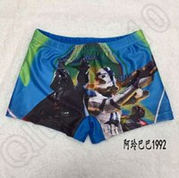 Cheap 120PCS HHA612 New kids star wars swim trunks children boys swimsuit kids beachwear cartoon Darth vader swimwear trunks