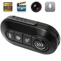 Wholesale Metal fuselage Car key HD P Mini Spy Hidden Camcorder Night Vision Thumb DV Camera Recorder