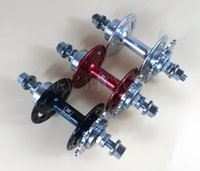 Wholesale Novatec A166SBT rear hub fixed gear holes or hole track bicycle hubs black red white silver color available with free cog