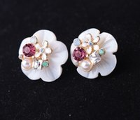 Wholesale Nature Shells Crystal Lady Charms Earrings Women Rings Body Jewelry Accessories Christmas Gift Best Design a Free Gift