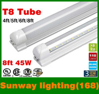 led white high bright - led tube lights ft ft ft ft Integrated T8 Tube Lights SMD2835 lm W High Bright Frosted Transparent Cover AC V UL DLC