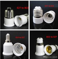 Wholesale 2015 LED Bulb Base Adapter E27 to E14 E14 to E27 E27 to B22 B22 to E27 Converter for LED Halogen CFL Light Bulb Lamp Holder LED Lamp Bases