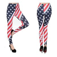 american flag leggings - New Fashion American flag Leggings Stars Striped Women Leggings Ankle Length Polyester Leggings