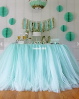 Wholesale Completely Custom Tulle Table Skirt Tutu Table Decoration for weddings birthdays baby bridal showers parties Tutu party decor