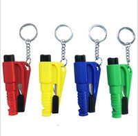automotive steels - Car Broken Window with Paragraph Artifact Keychain Emergency Rescue Chain Automotive Safety Hammer Escape Tool Keyring