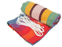 Wholesale Fedex DHL Colorful Hammock camping survival hammocks Indoor Outdoor cm