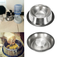 Wholesale New Stainless Steel Non Slip Pet Feeder Dog Puppy Food Water Feeding Dispenser Dish Bowl Pet Product Supplies