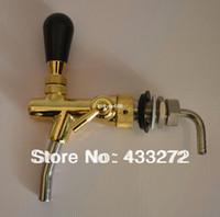 Wholesale Beer tap homebrew kegging tap Adjustable Faucet golden plating