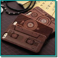 plastic skull - hot Skull Genuine Real Natural Bamboo Wood Wooden Phone Case cover Wood Slice with hard plastic back cover for iphone s s plus