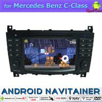 Car Audio top qualité stéréo Radio Android Lecteur Quad Core pour écran Benz Classe C 2 Din Car Dvd GPS RDS Radio Bluetooth capacitifs
