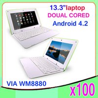 Wholesale DHL Inch Android Laptop Netbook Computer G GB WiFi Bluetooth HDMI ultra thin Netbook ZY BJ