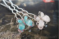 asian countries - 2015 Alloy Hair Accessories Barrettes Clips Women s Party White Korean Jewelry Factory Direct New Hot Diamond Butterfly Hairpin Country