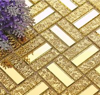Wholesale GM06 Glass mirror tv background wall decoration materials puzzle crystal wall stickers tile mosaic