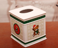 Wholesale Factory Outlet Small mixed batch of European ceramic tissue box upscale home decorations GS Jh001