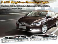 Wholesale Universal Day Light LED Car Light Car Fog Lights Bar Parking LED DRL LED Daytime Running Light Head Lamp Car Styling Auto Lamp Daylight