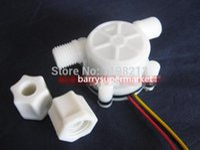 Wholesale YF S402 New Water Flow Sensor Switch Meter Counter Hall Sensor Flowmeter L min