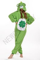 anime lucky - 2016 Cosplay Lucky grass bear Pajamas No Shoes Pajamas Hooded Conjoined Sleepwear Costumes Adult Unisex Onesie Soft Sleepwear CC25