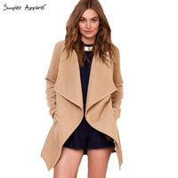 apparel workwear - Simplee Apparel autumn winter women long outwear Turn down collar fashion female overcoat Warm camel coats workwear plus size