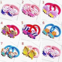 Wholesale hot Hair Bands sister pig brother pig Children Accessories Princess Hairpin Hair Rope hair Accessories for girls fv6y