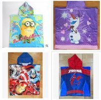 average thermals - 120 cm Cartoon Despicable Me Towel Cotton Bathroom towels Hooded The Averages Children Baby beach towel kids styles R1166