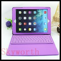 ipad mini keyboard - Bluetooth Wireless Keyboard leather case for Ipad air mini retina Stand Holder Protector Colors
