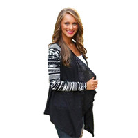 asymmetrical button sweater - New Aztec sleeve women Cardigan Female Long Asymmetrical Knitted Sweater casual Cardigans Sweaters Air conditioning Shirts CL00836