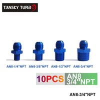 Wholesale Tansky unit Oil cooler fitting AN8 NPT blue For Universal With No Logo TK FITTING AN8 NPT