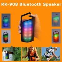 Nouveau Pill XL RK-908 Bluetooth sans fil à impulsions flash LED de lumière Haut-parleur portable avec crochet FM Radio TF carte U-disque Musique Mp3 Music Box Play