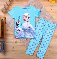 cotton nightgown - Newest girls frozen elsa pajamas kids baby sets children s pajamas cotton nightgown china cheap Elsa frozen pajamas