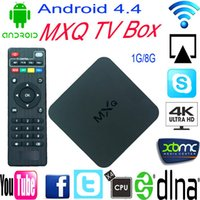 best smart tv boxes - 20pcs MXQ Best Android Smart TV Box Amlogic S805 RAM G ROM G Qual Core Dual Wifi Media Player